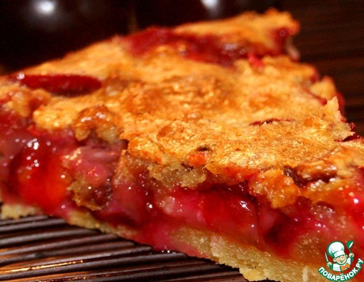 Рецепт: Сливовый пирог Обманчивая внешность