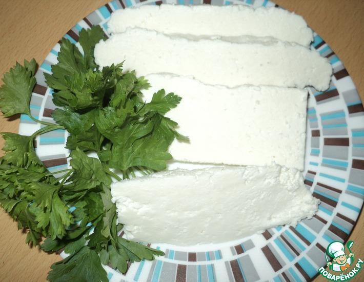 Рецепт: Домашний козий сыр