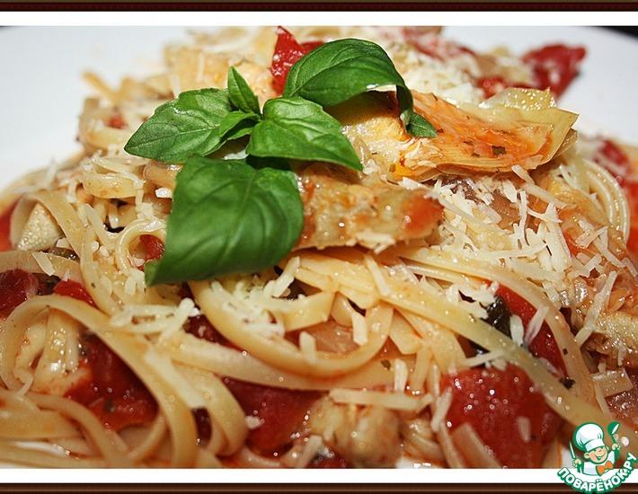 Рецепт: Паста с артишоками и помидорами