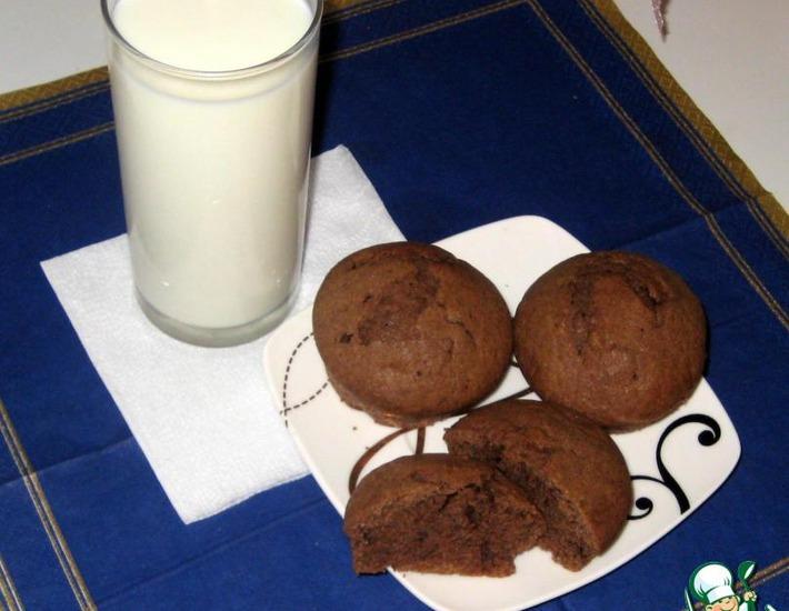 Рецепт: Шоколадные маффины Нежность
