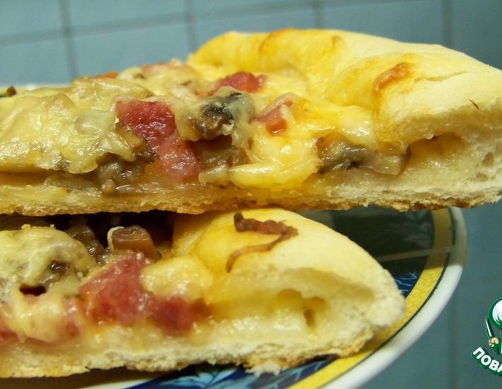 Рецепт: Пицца Вкусный край