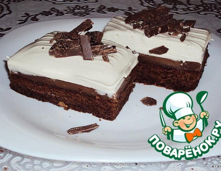 """Рецепт: Пирожные """"Шоколад & Кофе"""""""