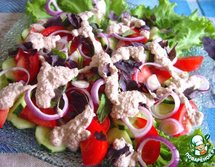 Рецепт овощного салата по грузински