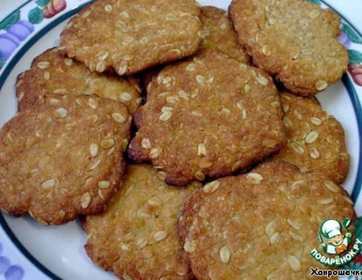 Рецепт: Овсяное печенье Анзакс