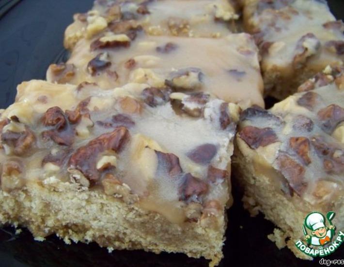 Рецепт: Карамельно-ореховые полоски