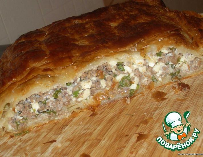 Рецепт: Греческий пирог с мясом