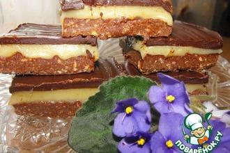 Рецепт: Пирожные со сливочным тоффи и шоколадом