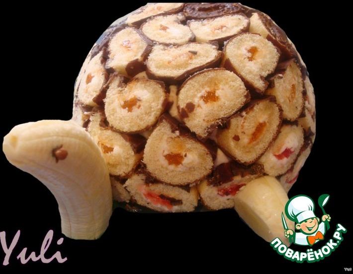 Рецепт: Торт Морская черепашка