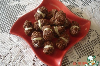 Рецепт: Шоколадное печенье Поцелуйчики