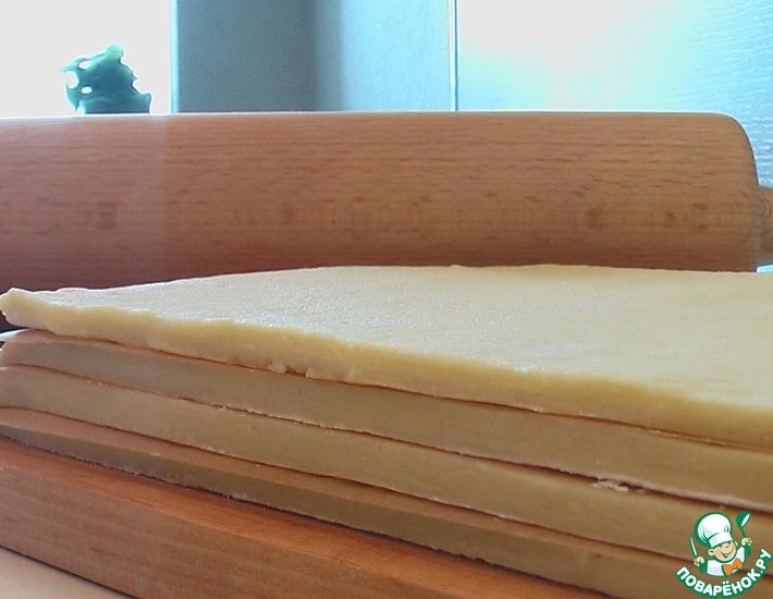 Рецепт: Слоеное тесто