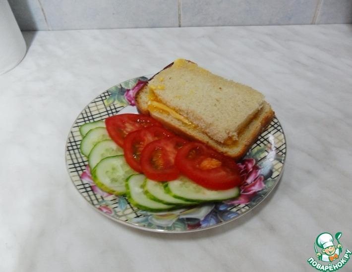 Рецепт: Вкуснючий бутерброд