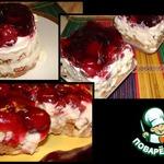 Пирожное без выпечки Красная шапочка