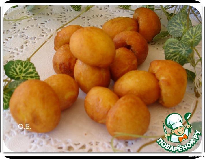 Рецепт: Пончики Сладкие грибочки
