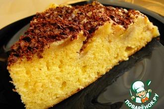 Рецепт: Пирог-перевертыш с бананами и сливочно-карамельным соусом