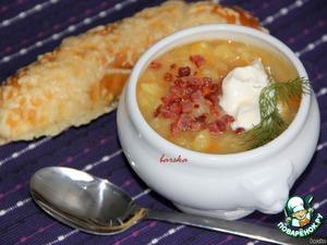 Картофельный суп-толчeнка с квашеной капустой