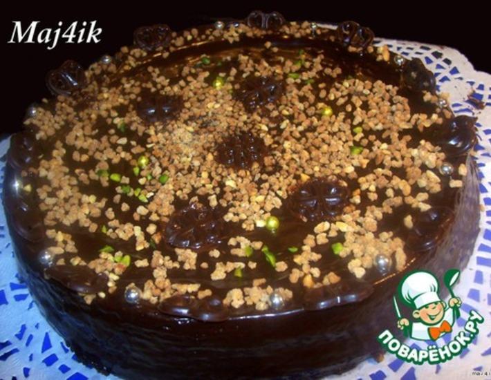 """Рецепт: Торт """"Шоколадное наслаждение"""""""