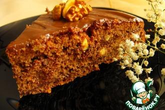 Рецепт: Шоколадно-ореховый торт с мягким кремом