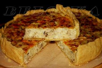 Рецепт: Рыбно-рисовый пирог На всякий случай