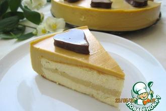 Рецепт: Нежный творожный торт