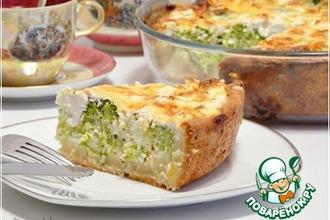Рецепт: Киш с брокколи и фетой