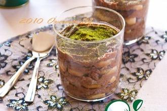 Рецепт: Тирамису с зелeным чаем и шоколадом