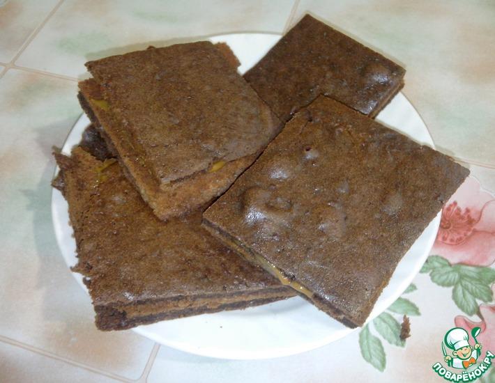 Рецепт: Пирожное Шоколадное счастье