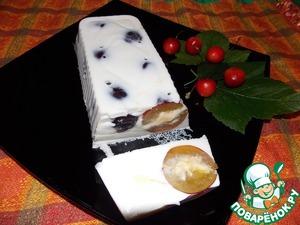Рецепт Сметанный десерт со сливой