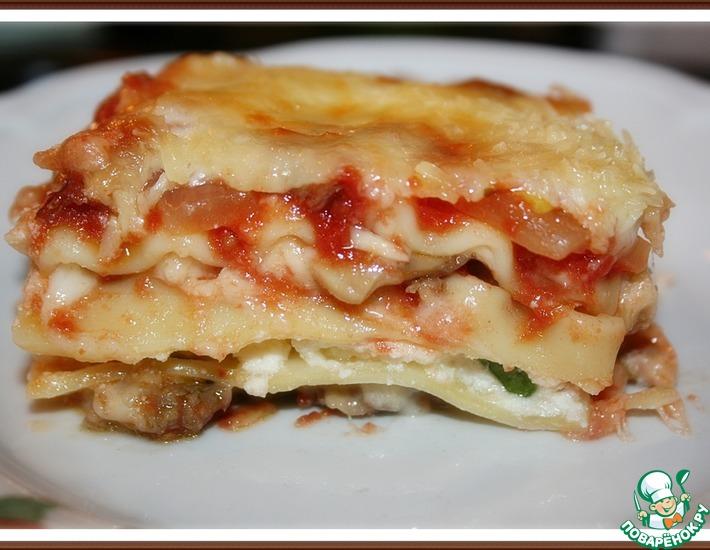 Рецепт: Лазанья с итальянским фаршем