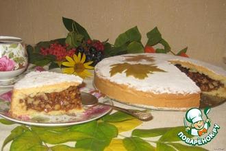 Рецепт: Пирог с грецкими орехами в карамельном соусе