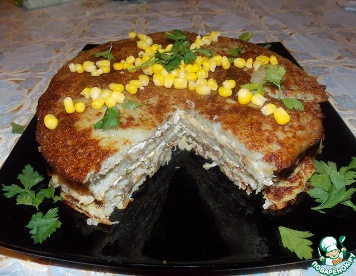 Рецепт: Пирог А-ля драник
