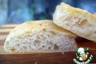 Рецепт: Фокачча с чесночно-сырной корочкой
