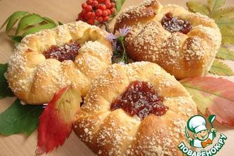 Рецепт: Булочки Осенние розанчики