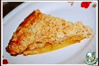 Рецепт: Хрустящий яблочный пирог с апельсиновым соком