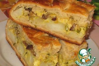 Рецепт: Пирог картофельно-грибной с сыром