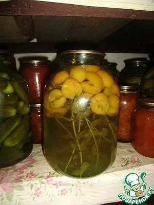 Рецепт Абрикосовый компот с мятой