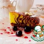 Пирог Шоколадная зебра с вишней