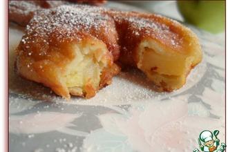 Рецепт: Яблочные пончики