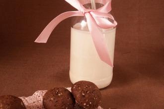 Рецепт: Шоколадное печенье с кунжутом