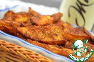 Рецепт: Острые картофельные дольки к пиву