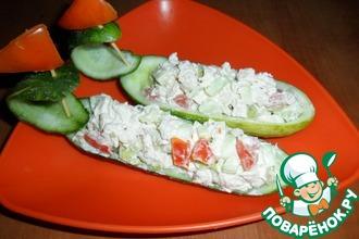 Рецепт: Лодочки с салатом