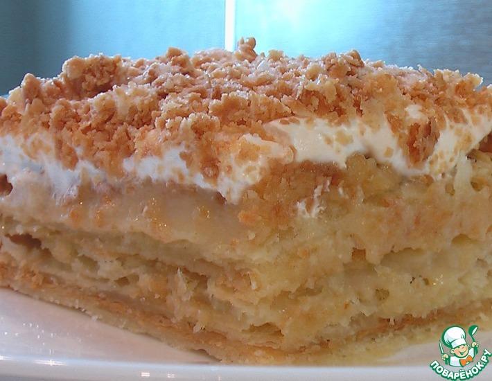 Рецепт: Слоеное пирожное с заварным кремом