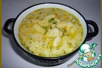 Рецепт: Суп сырный с клецками