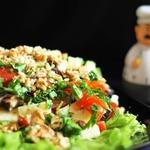 Тeплый салат с баклажанами Готовим вместе