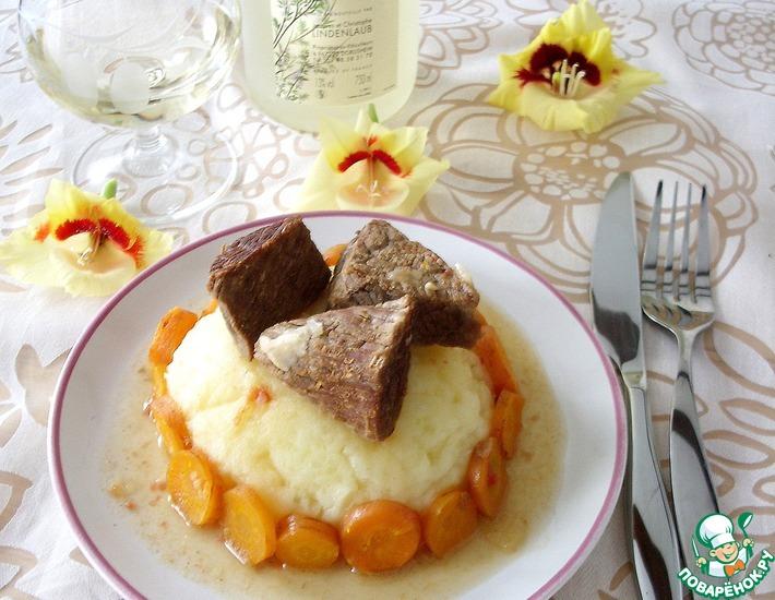 Рецепт: Говядина с морковью