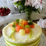 Йогуртовый торт с дыней