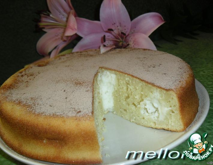 Рецепт: Пирог из топленого молока с творогом