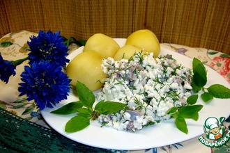 Рецепт: Сельдь с домашним сыром