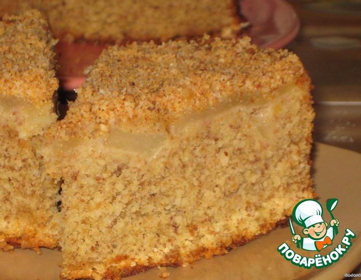 Рецепт: Пирог нежный миндально-яблочный