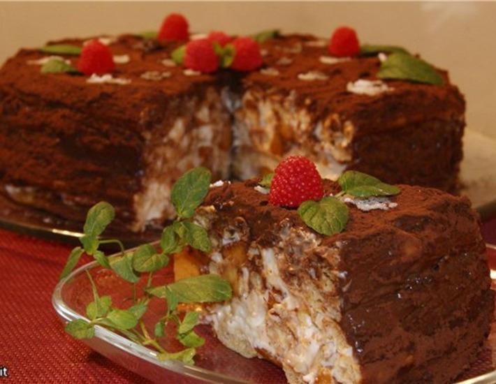 Рецепт: Торт Нежная тропиканка