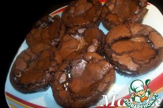 Рецепт: Мокрые шоколадные крем-маффины Сладкое блаженство